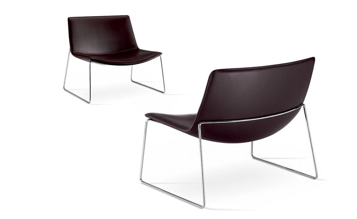 Catifa 80 Lounge Chair With Sled Base Hivemodern Com