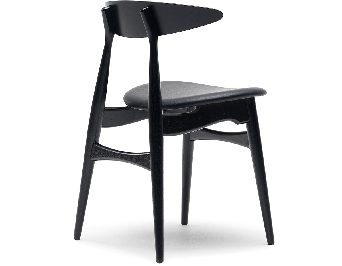 ch33 dining chair with upholstered seat. Black Bedroom Furniture Sets. Home Design Ideas