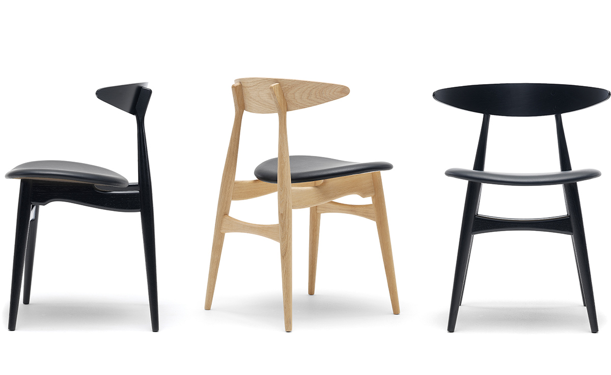 Ch33 dining chair with upholstered seat for Dining seats