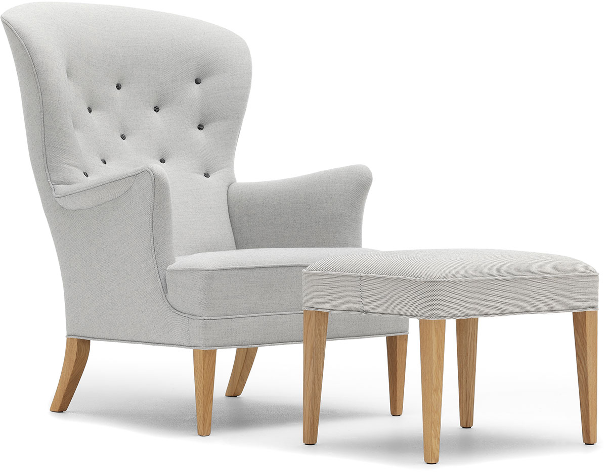 Fh419 Heritage Lounge Chair & Ottoman hivemodern