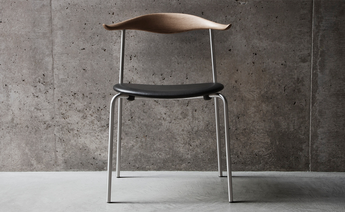 Hans Wegner Ch88p Stacking Chair With Upholstered Seat