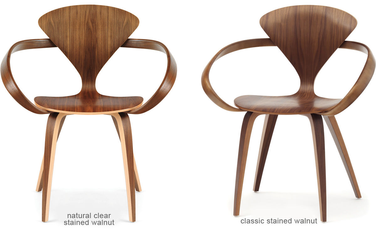 Cherner Arm Chair With Upholstered Seat