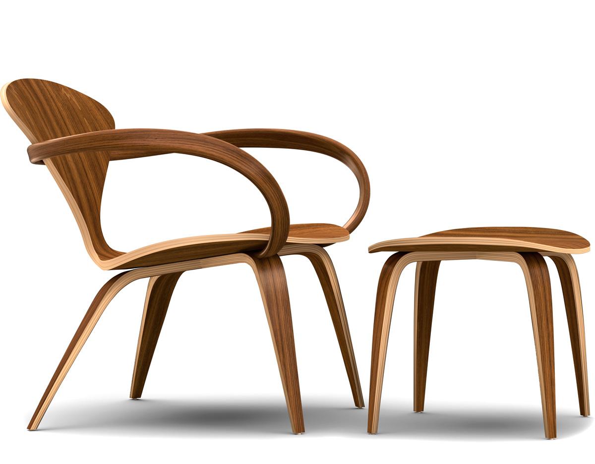 Cherner Lounge Arm Chair & Ottoman - hivemodern.com