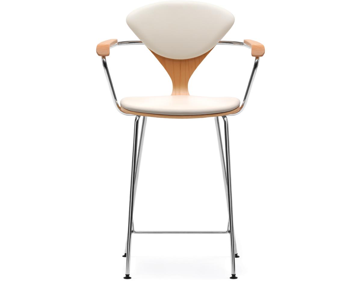 Cherner Stool W/arms - Upholstered Seat & Back - hivemodern.com