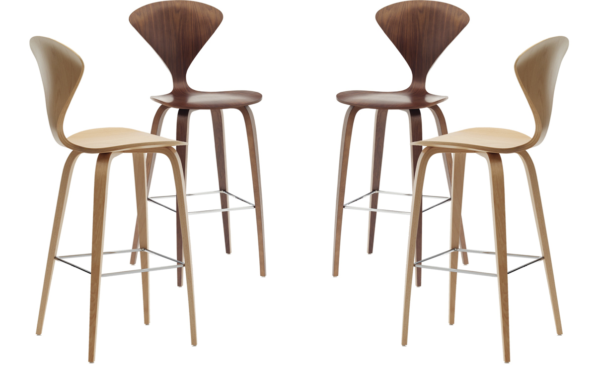 Marvelous Cherner Wood Leg Stool