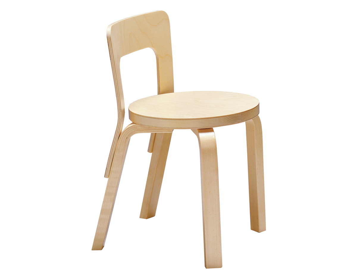 Alvar Aalto Childrens Chair N65 - hivemodern.com