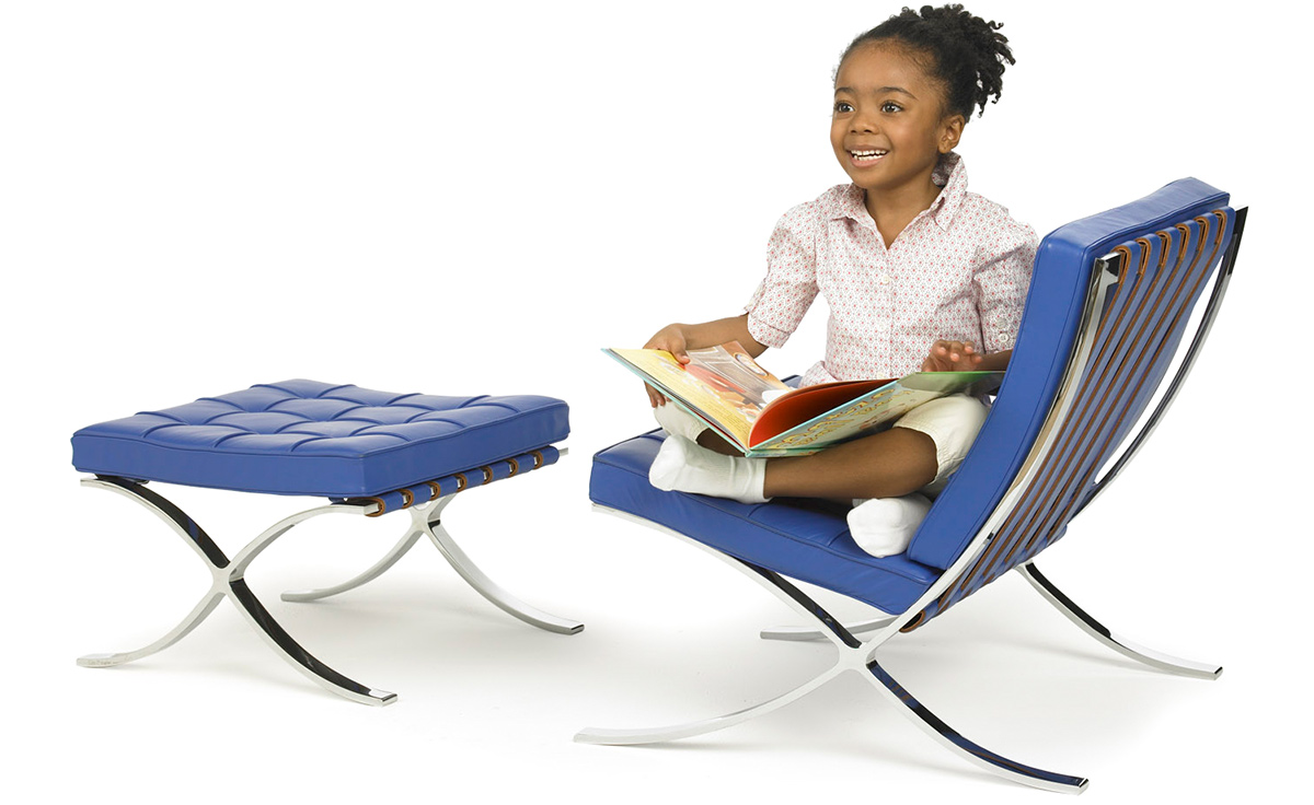 Child S Barcelona Chair Amp Stool Hivemodern Com