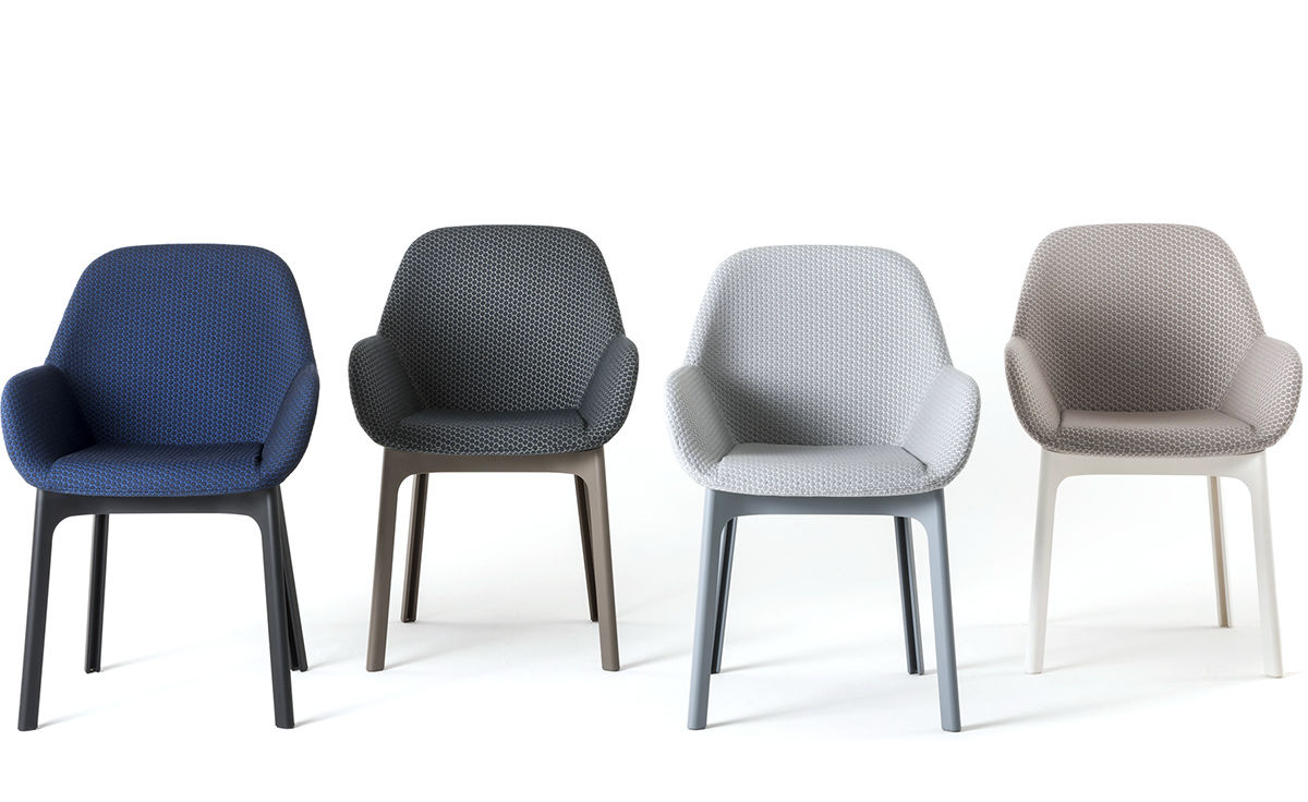 Clap Chair With Embossed Fabric Hivemodern Com