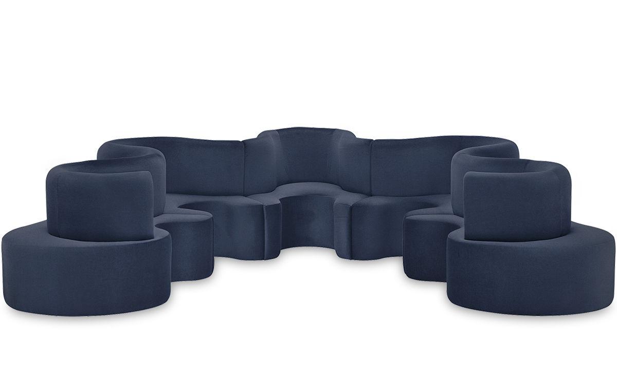 Panton Cloverleaf 5 Unit Sofa Hivemodern Com