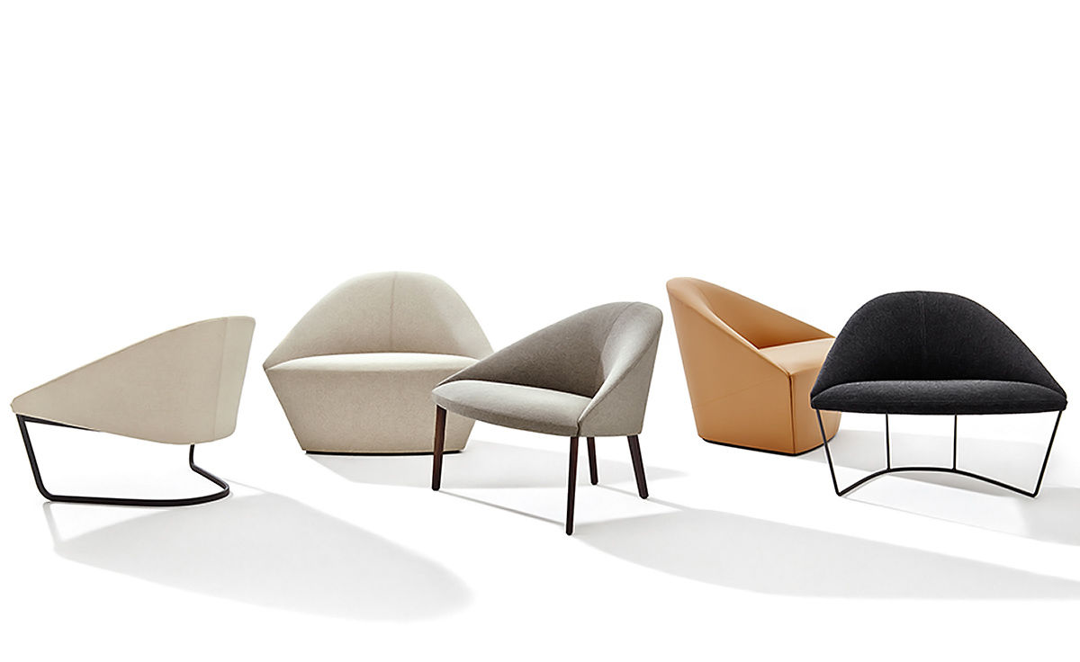 Colina Lounge Chair With 4 Leg Base Hivemodern Com