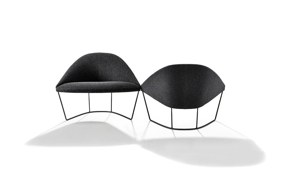 Colina Lounge Chair With Sled Base Hivemodern Com