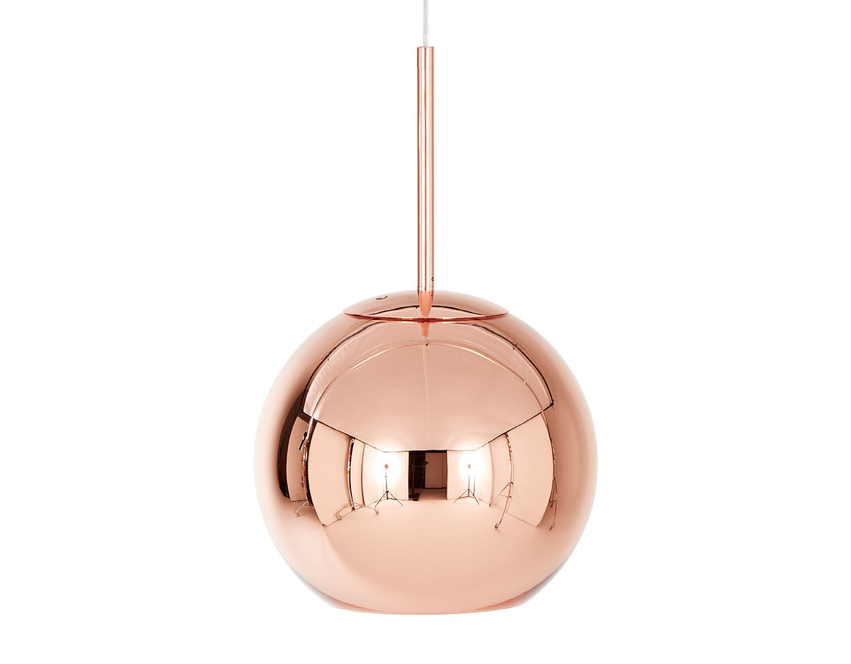 Copper shade pendant light Tom dixon lighting