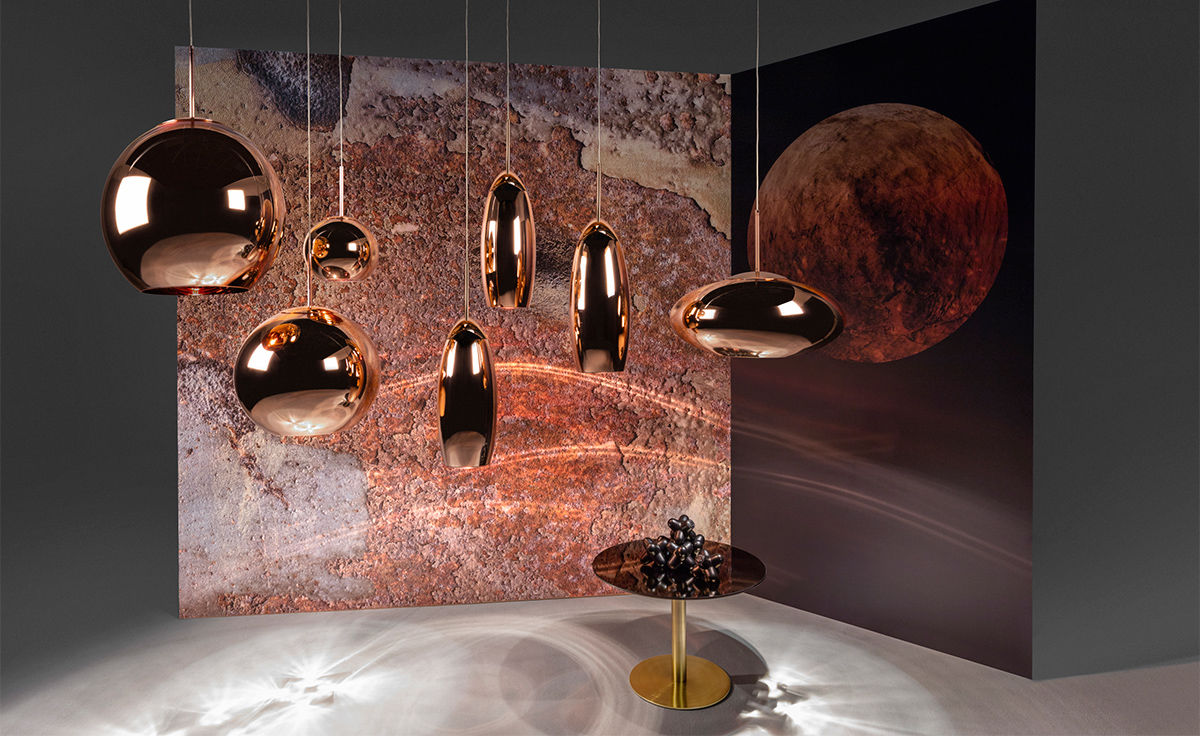 Copper Wide Pendant Lamp Hivemodern Com
