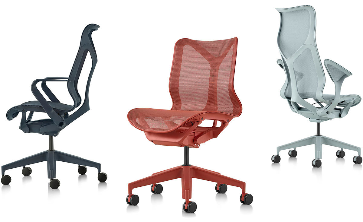 Cosm High Back Task Chair Dipped In Color Hivemodern Com