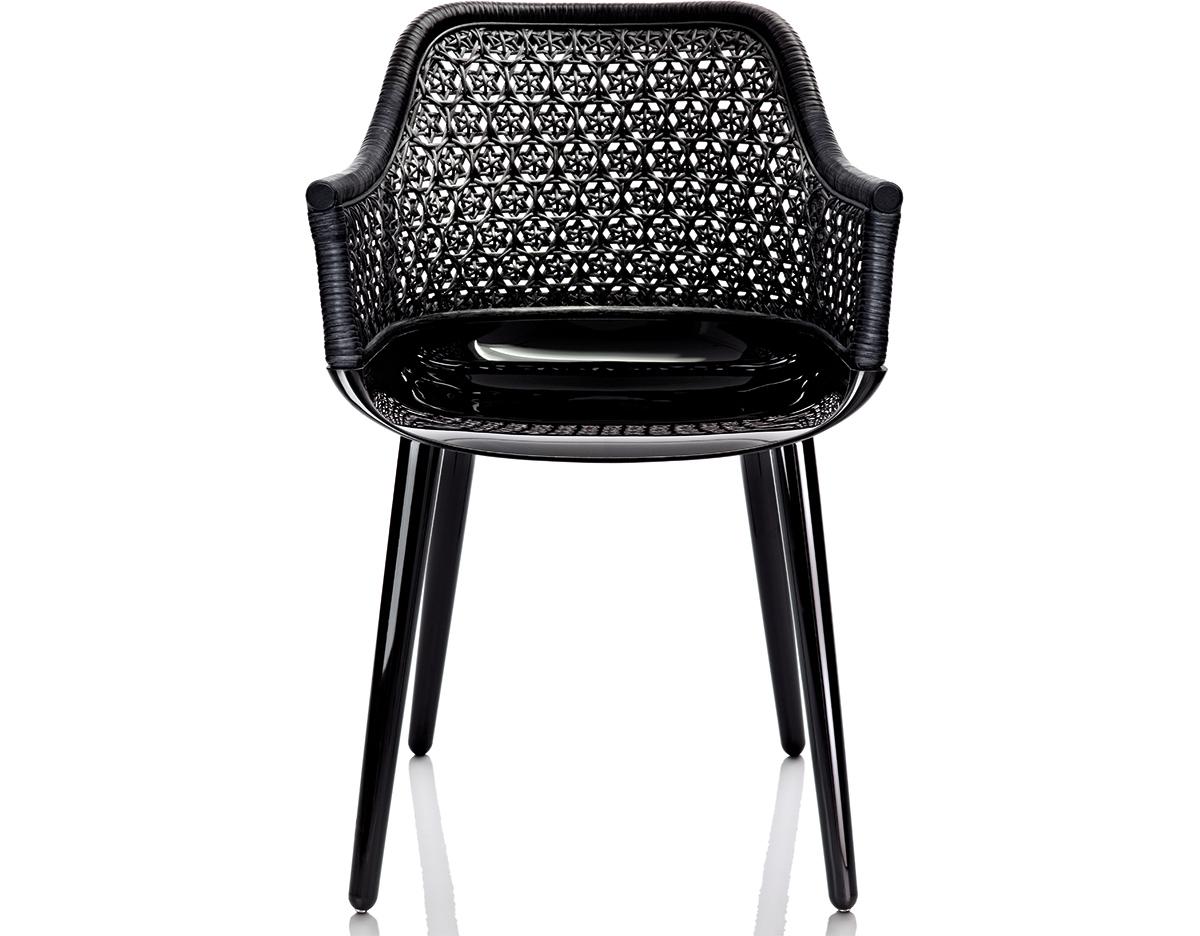 Superb Magis Cyborg Elegant Armchair With Wicker Back