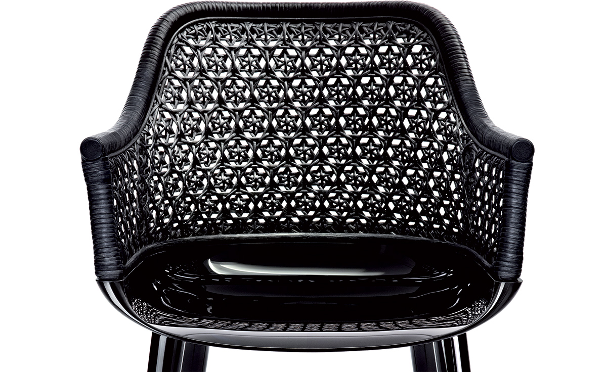 High Quality Magis Cyborg Elegant Armchair With Wicker Back