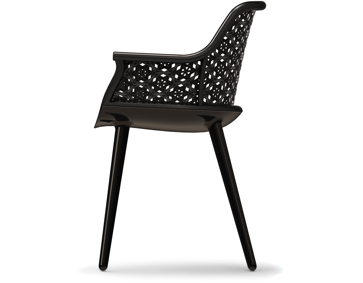 Magis Cyborg Elegant Armchair With Wicker Back