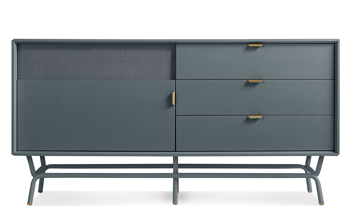Dang 1 door 3 drawer console for Blu dot media console