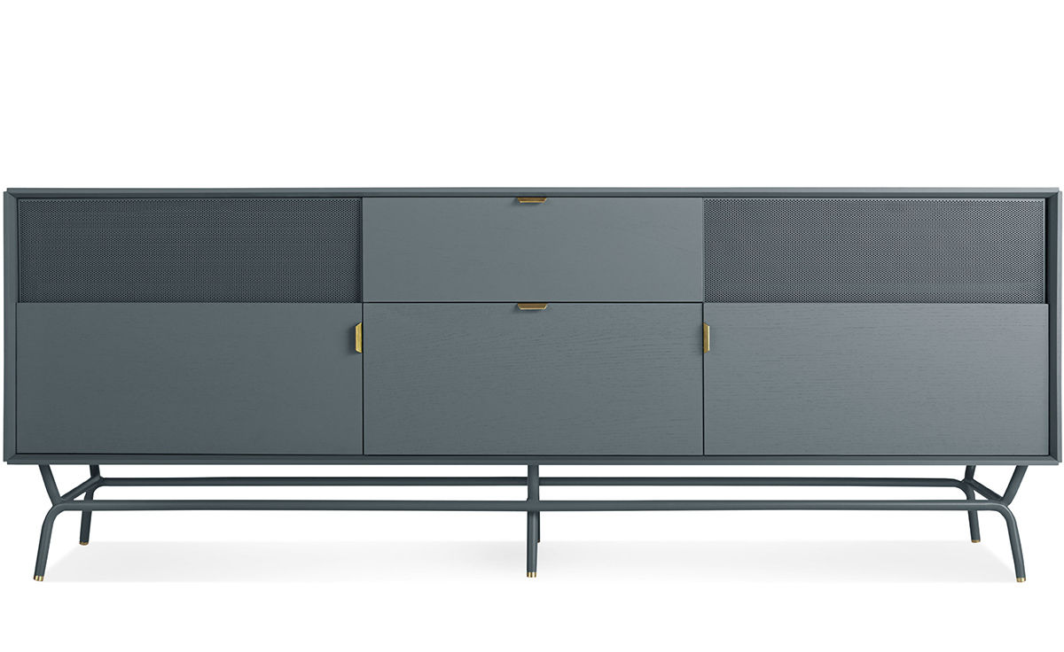 Dang 2 door 2 drawer console for Blu dot media console