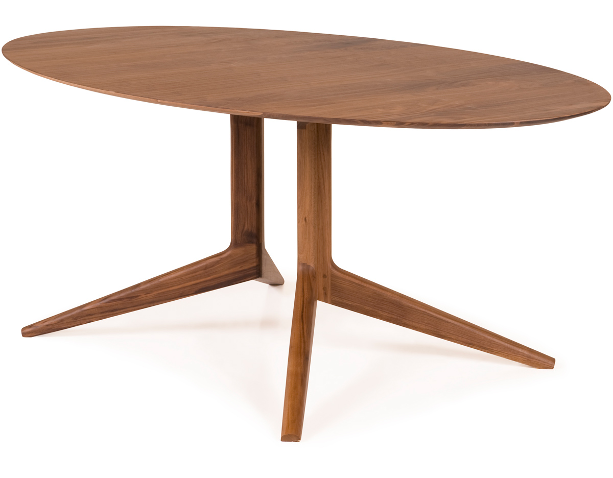 Light oval table 394f for Lit table de nuit integree