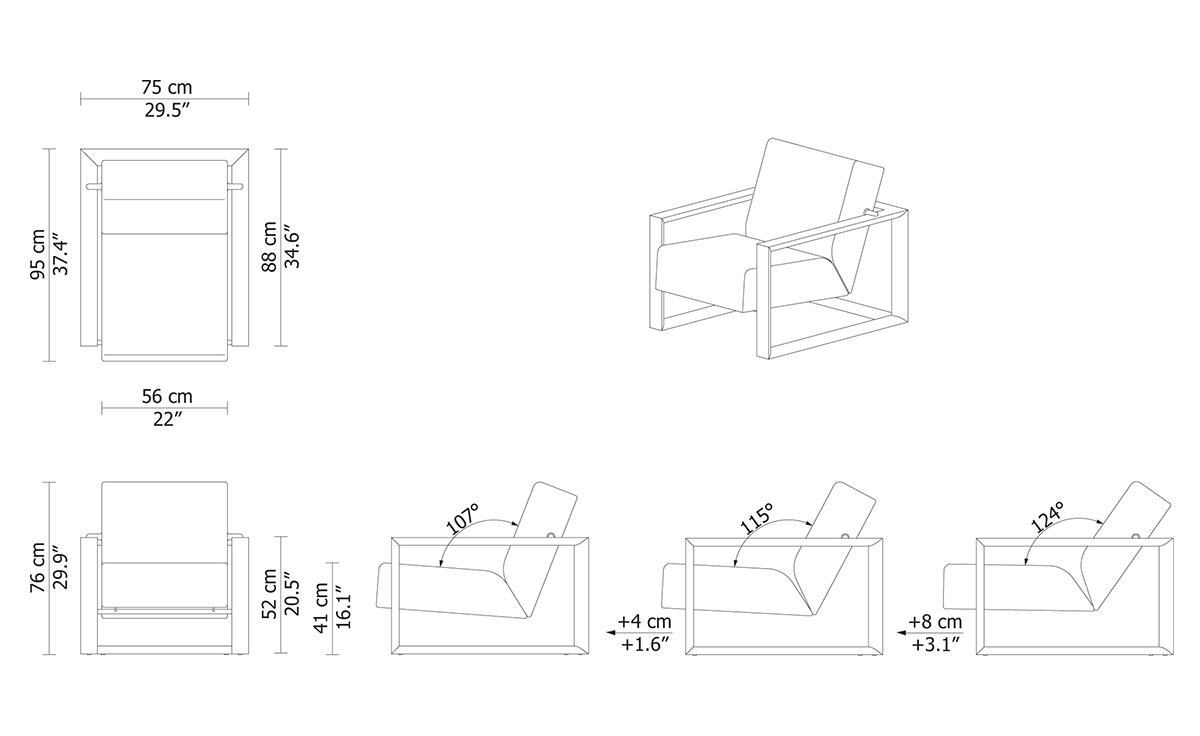 Lounge chair top view drawing - Overview Manufacturer Media Reviews