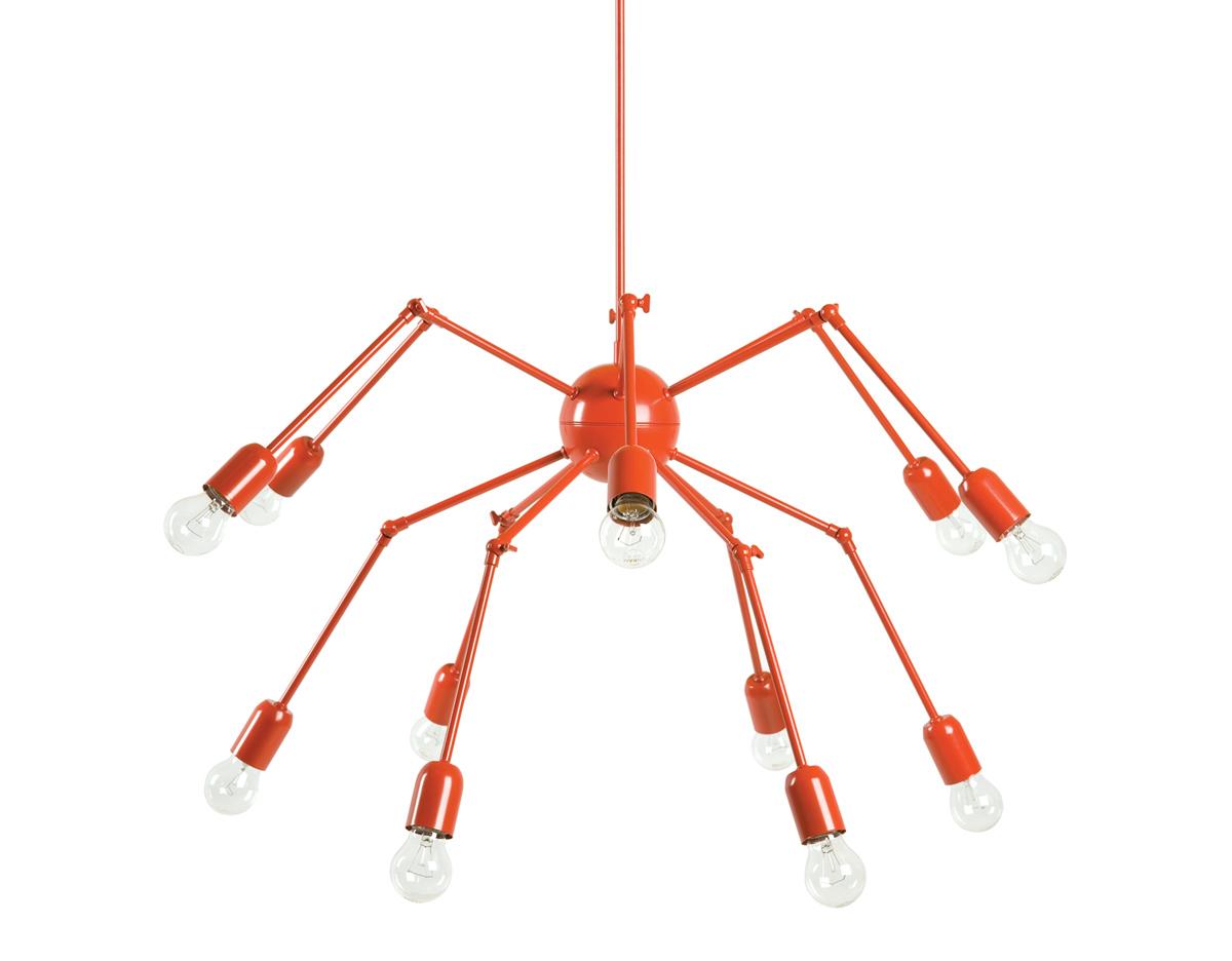 Double octopus suspension lamp 224d for Suspension double