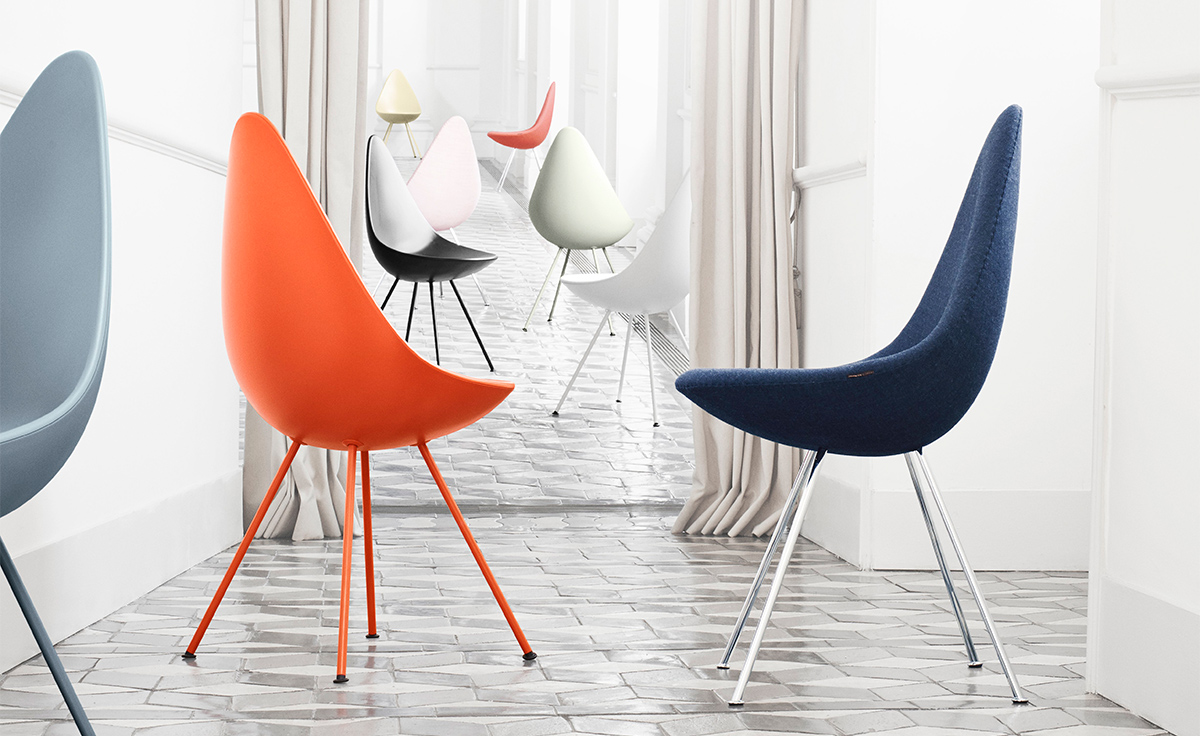 Drop Chair Upholstered Hivemodern Com
