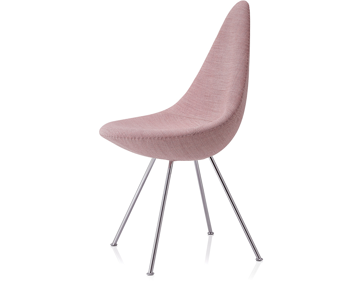 Swan chair jacobsen - Drop Chair Upholstered Hivemodern Com