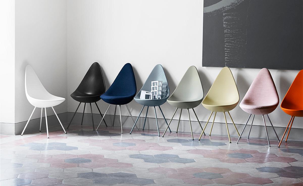 Arne jacobsen drop chair - Overview