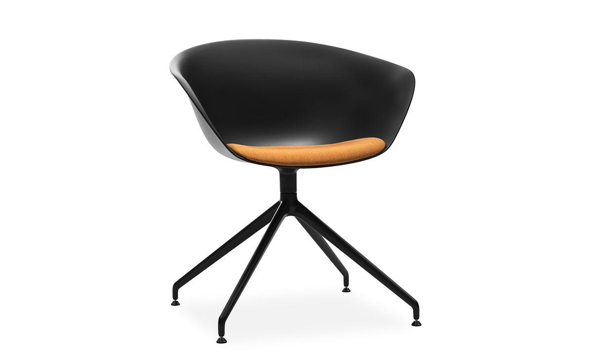 Duna 02 Trestle Base Chair With Seat Cushion Hivemodern Com