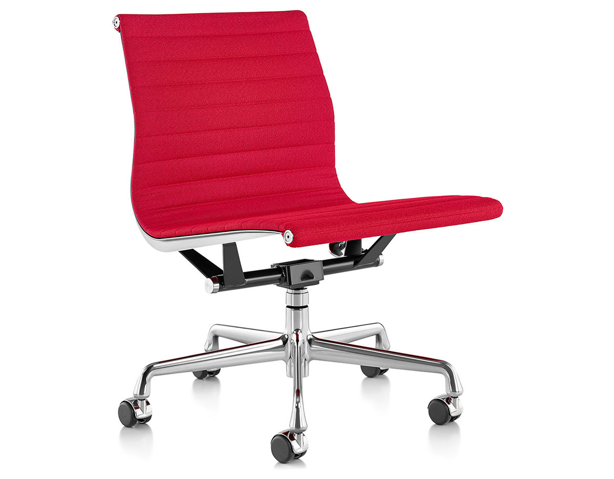 eames® aluminum group management chair with no arms