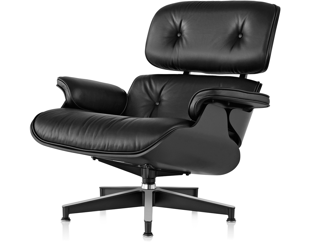 ebony eames lounge chair without ottoman. Black Bedroom Furniture Sets. Home Design Ideas