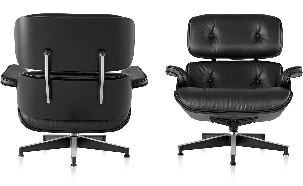 Ebony Eames 174 Lounge Chair Amp Ottoman Hivemodern Com