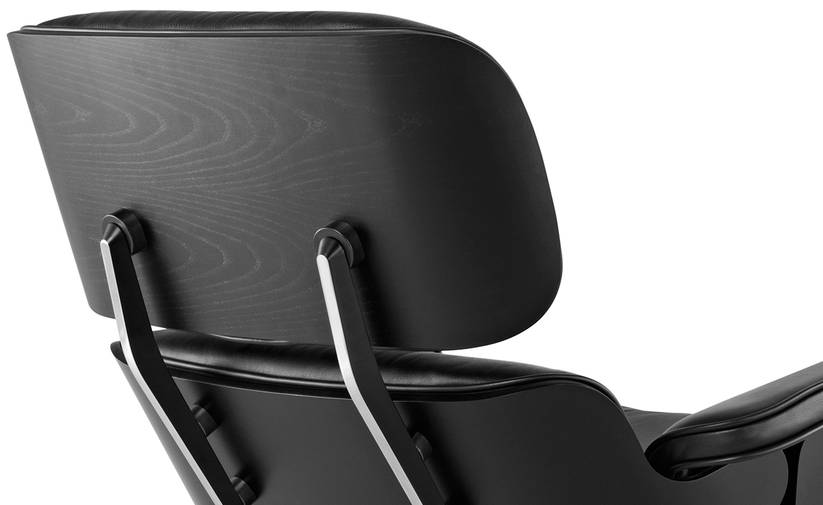 Eames Chair Leather ebony eames® lounge chair & ottoman - hivemodern