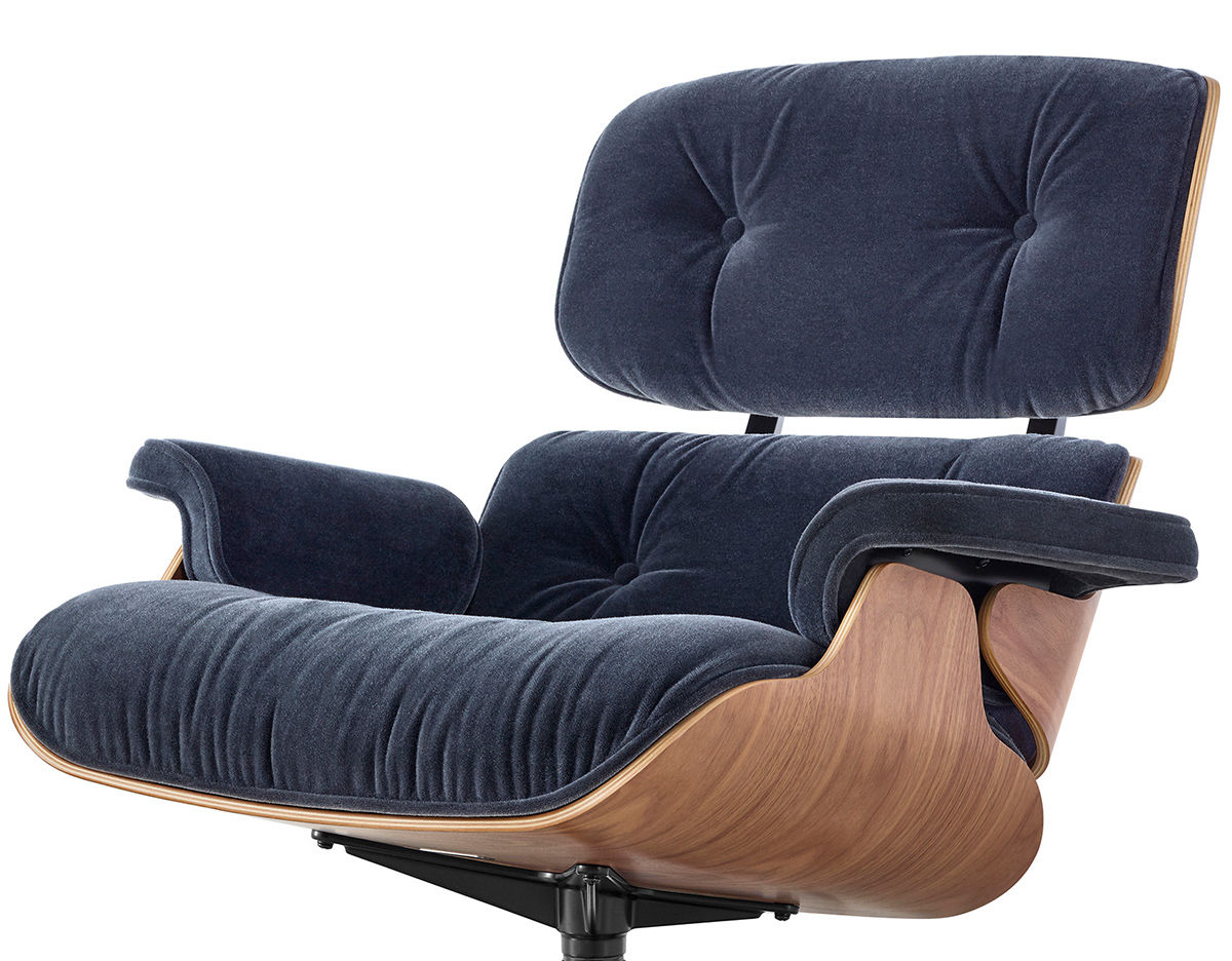 eames lounge chair in mohair supreme. Black Bedroom Furniture Sets. Home Design Ideas