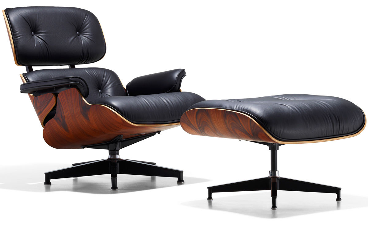 Eames lounge chair ottoman for Modern design lounge chairs