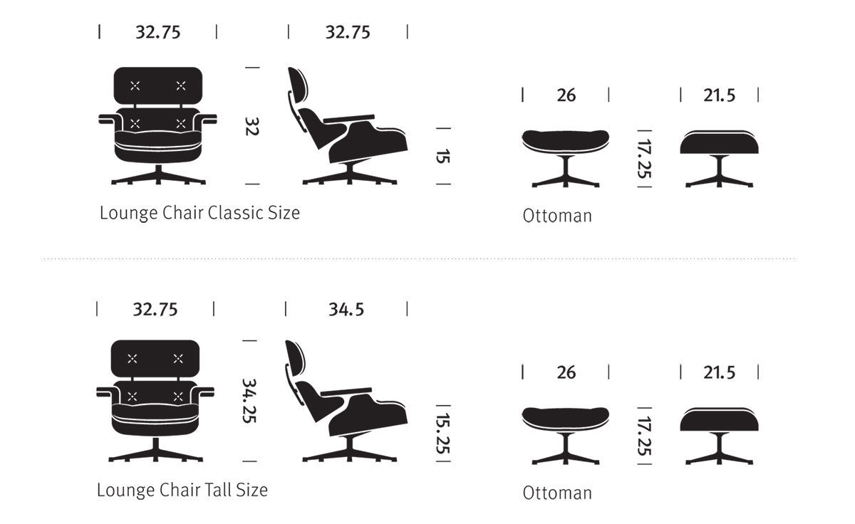 Fabulous Eames Lounge Chair Ottoman Dailytribune Chair Design For Home Dailytribuneorg