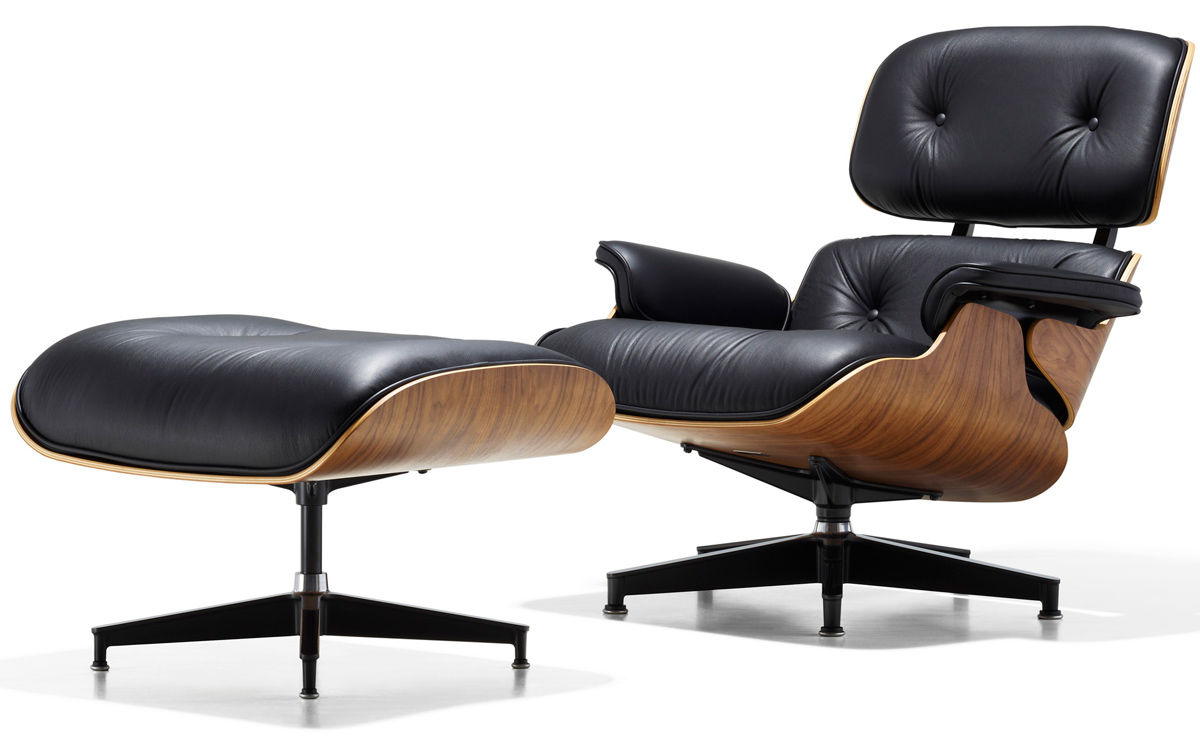Eames lounge chair ottoman for Chaise fauteuil eames