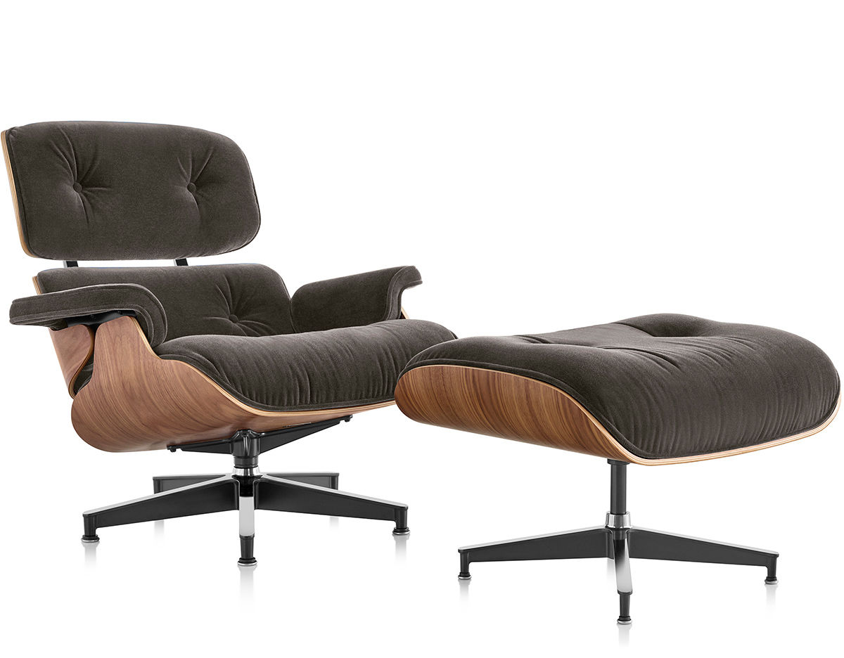 Eames® Lounge Chair & Ottoman In Mohair Supreme