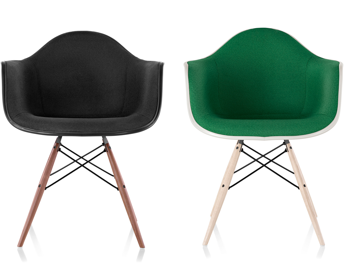 Eames® Upholstered Armchair With Dowel Base