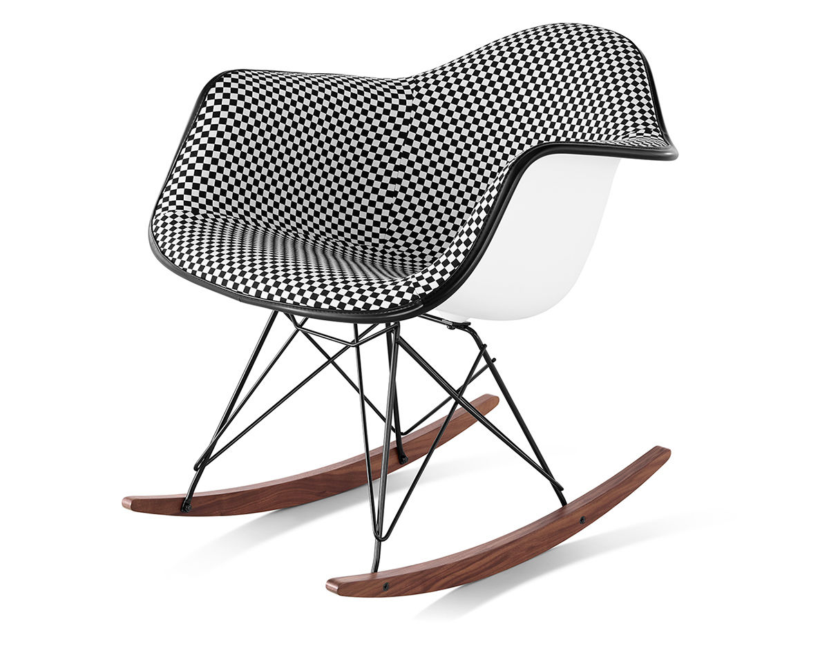 Marvelous Eames Upholstered Armchair With Rocker Base Machost Co Dining Chair Design Ideas Machostcouk
