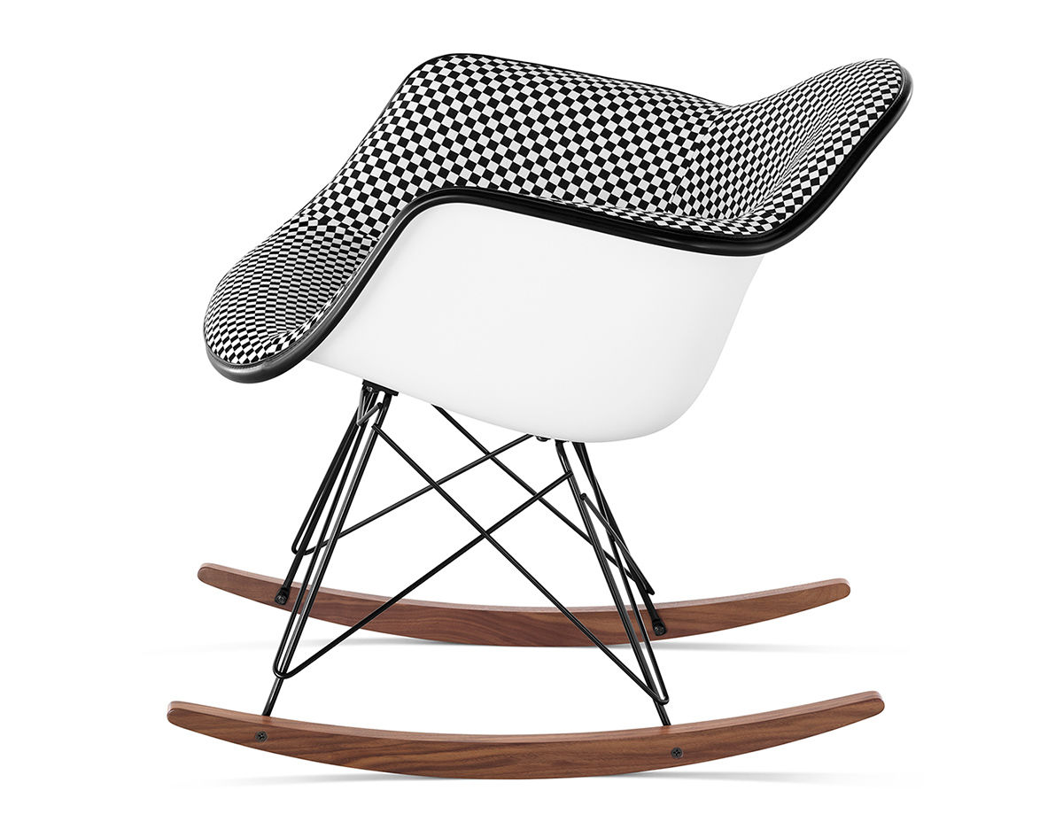Eames® Upholstered Armchair With Rocker Base - hivemodern.com