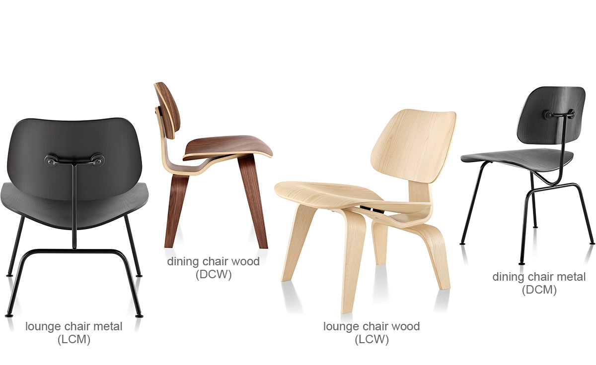 Eames molded plywood dining chair dcw for Designer charles eames
