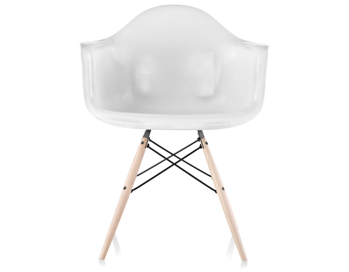 Eames Molded Fiberglass Armchair With Dowel Base hivemoderncom