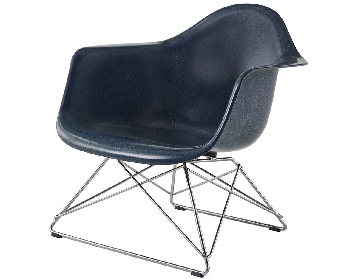 Eames® Molded Fiberglass Armchair With Low Wire Base ...