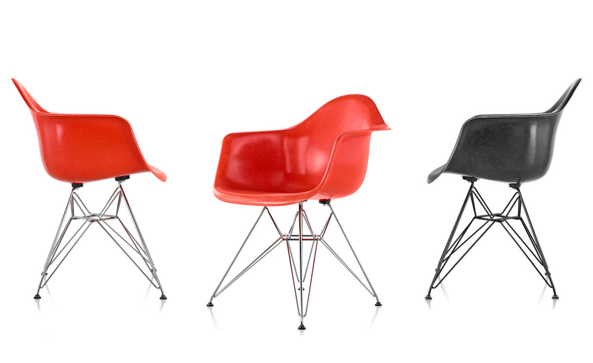 Eames® Molded Fiberglass Armchair With Wire Base ...