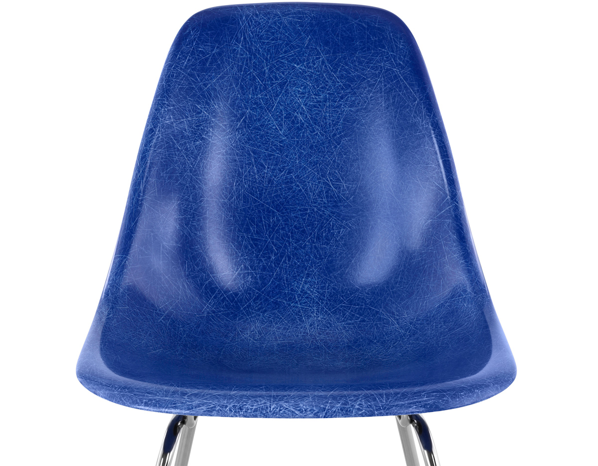 Eames Molded Fiberglass Side Chair With 4 Leg Base hivemoderncom