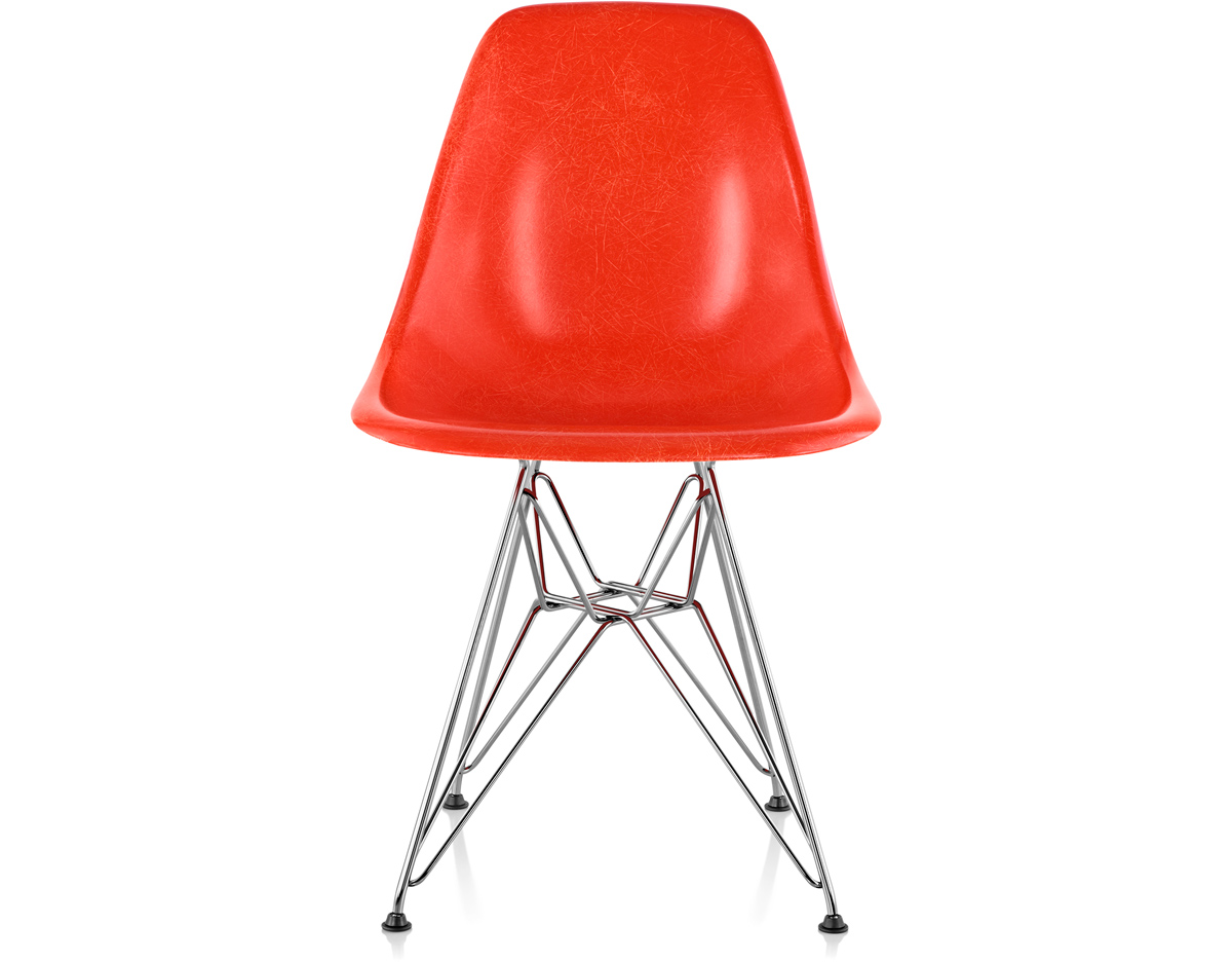 eames molded fiberglass side chair with wire base. Black Bedroom Furniture Sets. Home Design Ideas