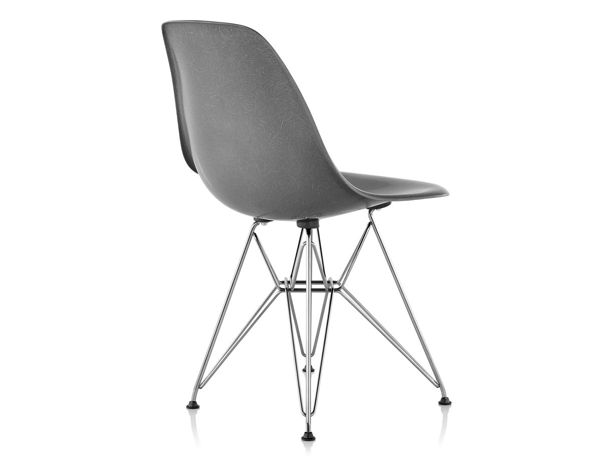 Eames molded fiberglass side chair with wire base for Eames side chair nachbau