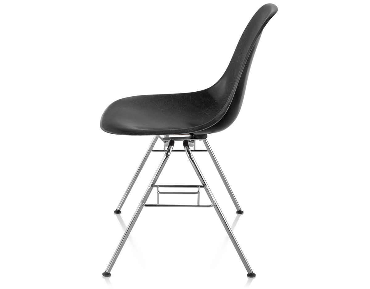 Eames Molded Fiberglass Side Chair With Stacking Base